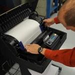 P7005 pedestal line printer